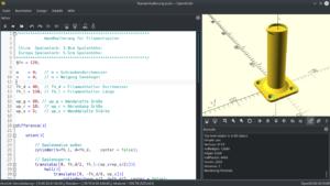 Wandhalterung für Filamentspule in OpenSCAD konstruieren