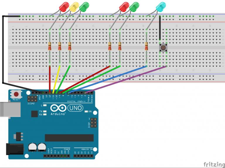 Ampelschaltung mit Arduino